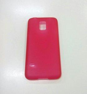 Чехол пластиковый для Samsung S5 mini ультратонкий