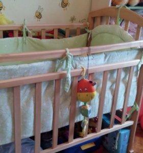 Кроватка+балдахин+бортики..