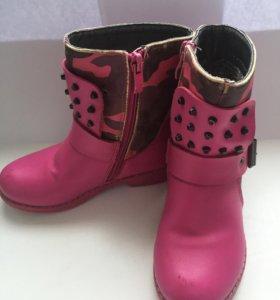 Детские ботинки для девочки демисезонные
