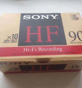Sony HF-90 винтаж блок кассет(10 шт.)+бонус