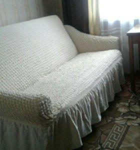 Чехол на диван и кресло