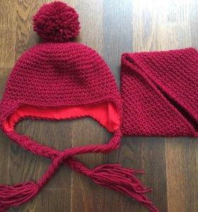 Вязанная шапочка и снуд