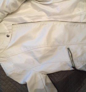 Куртка кожаная Stradivarius