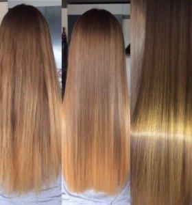 Полировка волос и молекулярное восстановление