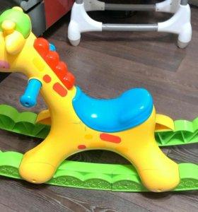 жираф качалка Fisher price