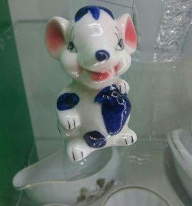 Мышка фарфор