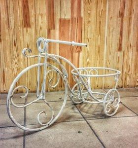 Цветочник велосипед