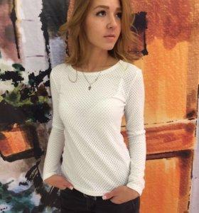 Блузка белая с люрексом, НОВАЯ!!!