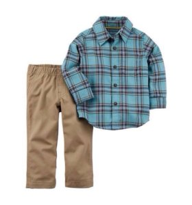 Новая фланелевая рубашка и штаны Carters США