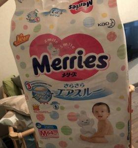Подгузники Merries M( 6-11кг)