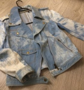 Джинсовая куртка косуха 👍🏻