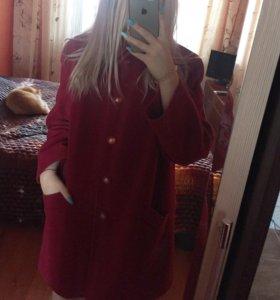 Бордовое пальто Eastex