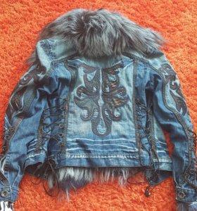 Куртка джинсовая меховая