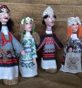 Куклы перчаточные для домашнего театра.