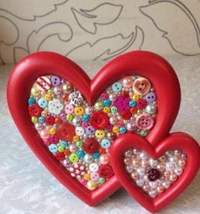 """Подарок для влюбленных """"Сердца"""""""