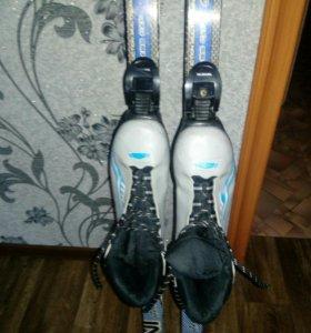 Лыжи размер 170см. + ботинки 39размер + палки 130с