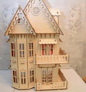 Кукольный домик новый , в коробке