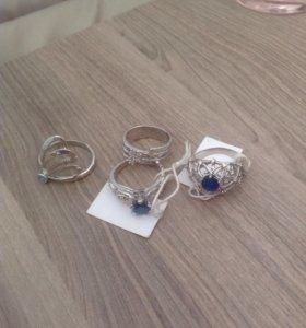 Серебряное кольцо в ассортименте размер 18,19