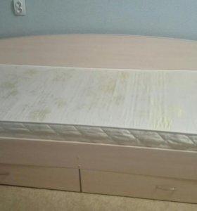 Кровать с 2-мя ящиками
