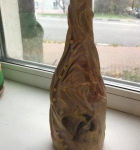 Бутылка декорированная