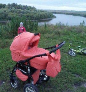 коляска 2в1 цвет оранжевый