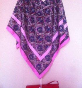 Etro новый платок шелк твил 90/90 см.