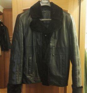 Куртка мужская кожаная на меху (зимняя) р. 48-50