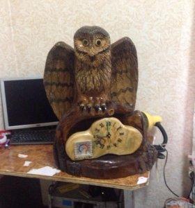 Продам часы сова