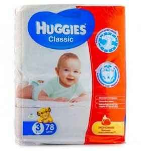 Подгузники Huggies Classic 3 (4-9 кг)