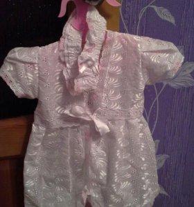 Крестильное платье новое