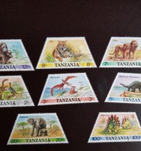 Набор из 8-ми марок из Танзании 1988 года