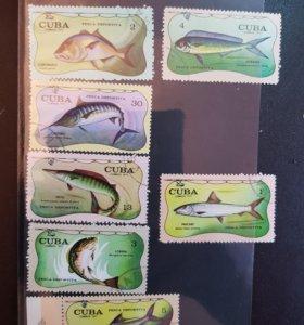 Набор из 7-ми марок из Кубы 1971 год