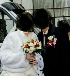 Свадебная шубка 52-56