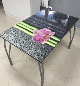 Стол с закалённым стеклом