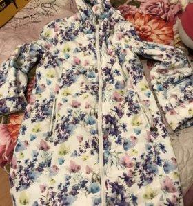 Пальто для беременных р 50 плюс вставка!