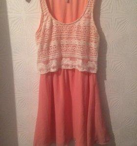 Лёгкое летнее платье с кружевом