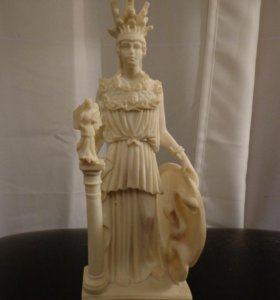 Статуэтка Афина паллада, мраморная крошка, 25 см