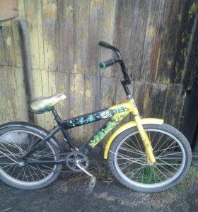 Велосипед подросток BehTen ребенку на 6/7 истарше