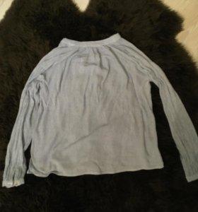 H&M рубашка блузка с треугольным вырезом