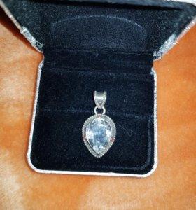 Кулон Капля серебро 925