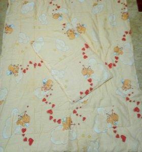 Одеяло и подушка детские
