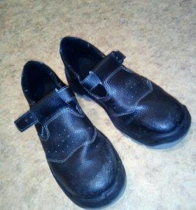 Рабочие ботинки ,кожа.