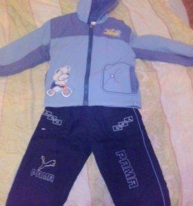 Куртка- ветровка + болоневые брюки