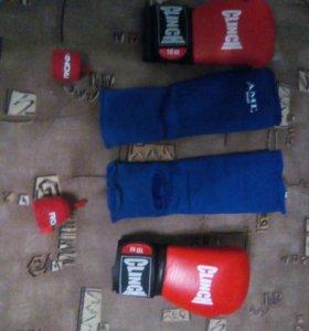 Перчатки ,защита ,бинты