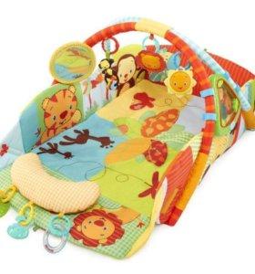 Игровой коврик с бортами Bright Starts + доп игруш