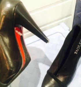 Туфли паолети кожаные