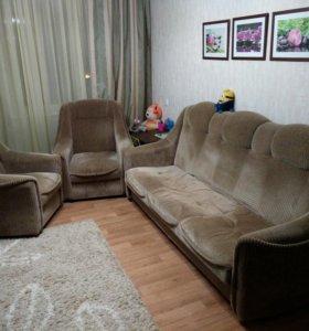 Два кресла + диван-кровать в подарок