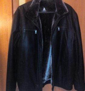 Куртка мужская кожаная с иск. мехом