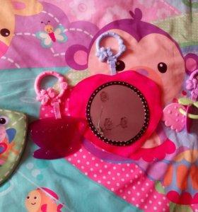 Fisher Price Развивающий коврик Джамбо розовый