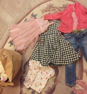 Пакет вещей на девочку 2-6 лет